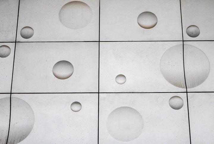 Dvostruko zakrivljena tekstilno-betonska fasada